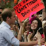 """""""Kate hat hier Wettbewerberinnen"""" - diese weiblichen William-Fans freuen sich, dass der Prinz seine Freundin zuhause ließ"""