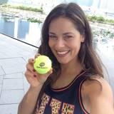 Es ist Bastian Schweinsteigers Freundin, Tennisspielerin Ana Ivanovic.