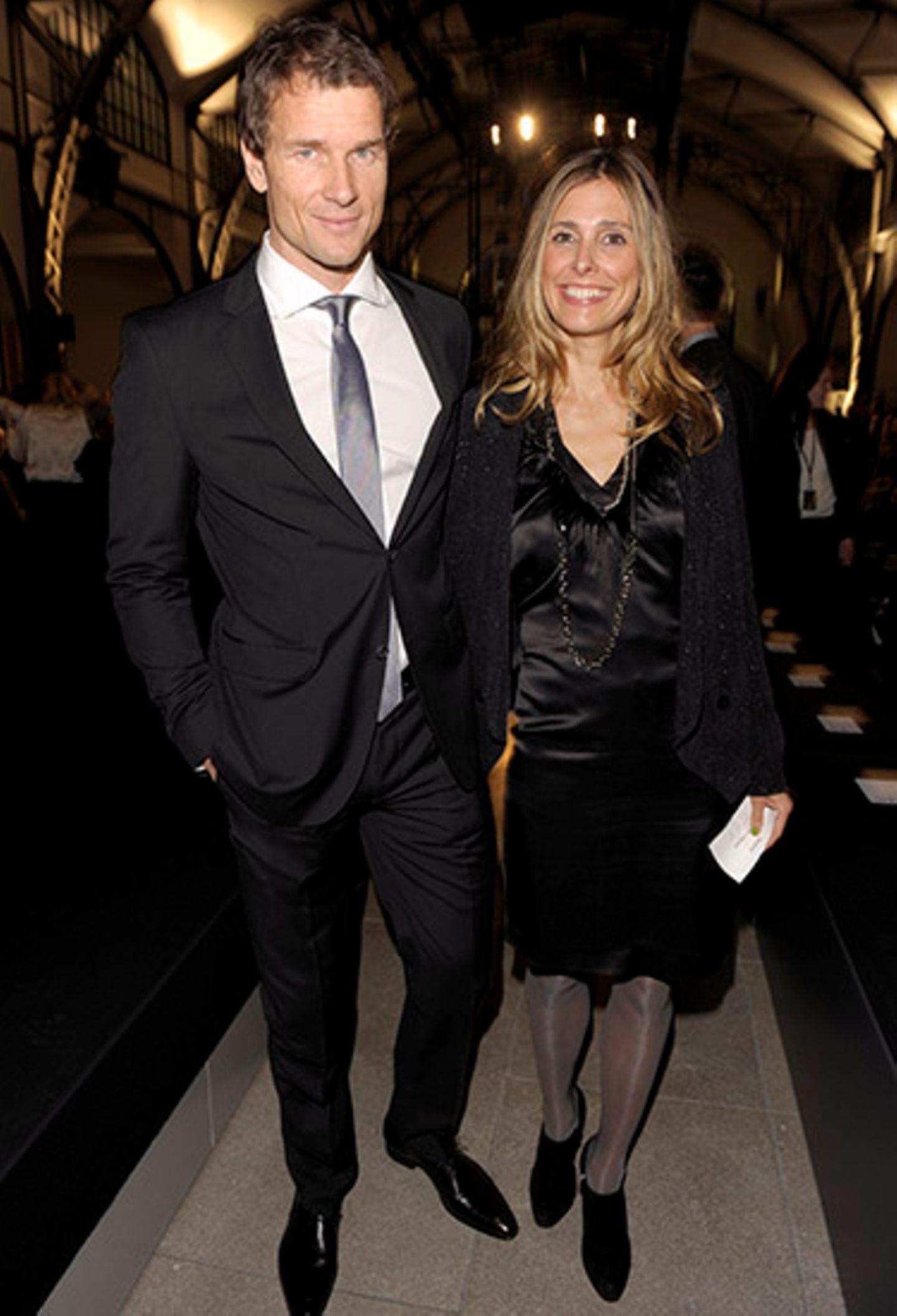 Jens Lehmann und seine Frau Conny freuen sich auf die Veranstaltung im Hamburger Bahnhof.
