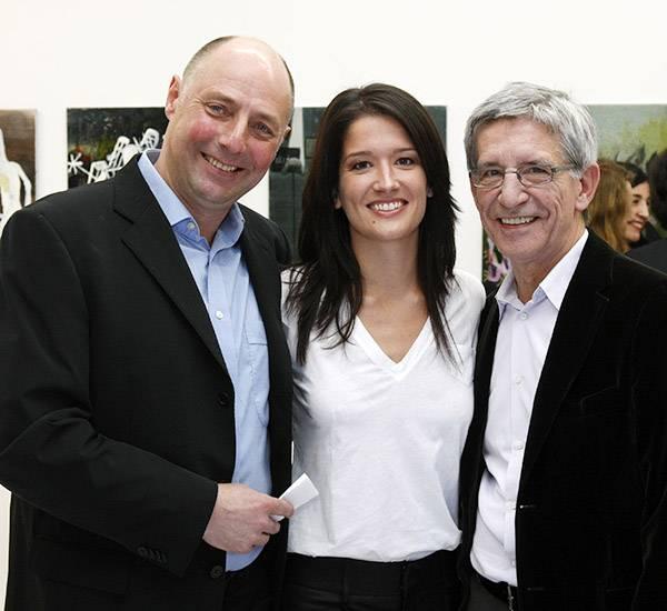 Viktoria Strehle mit ihrem Vater Gerd (r., beide Strenesse) freuten sich, Gala-Chefredakteur Peter Lewandowski zu treffen.