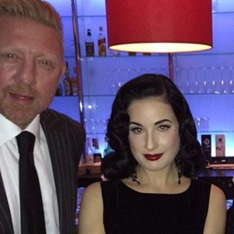 """Boris Becker traf Dita Von Teese bei der Deutschlandpremiere von """"Das Phantom der Oper""""."""