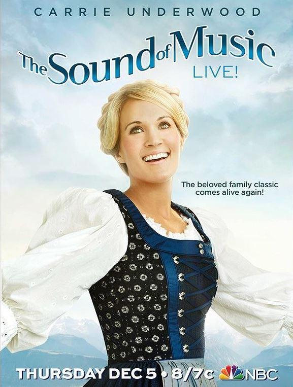 Country-Star Carrie Underwood spielt Maria Trapp, im Dirndl und mit Flechtfrisur.