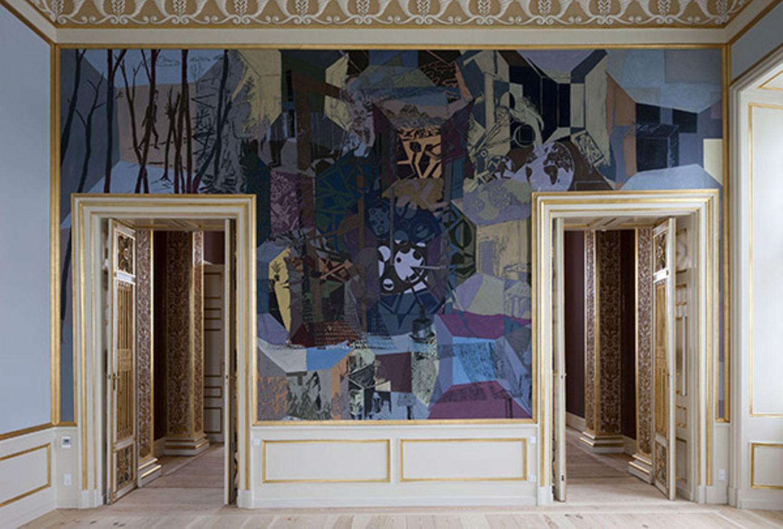 Die Mischung machts: Moderne Kunst im alten Rahmen.