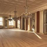 Hofchef Per Thornit merkte an dass es wohl etwas schwieriger sein wird die großen Räume mit Möbel zu füllen.