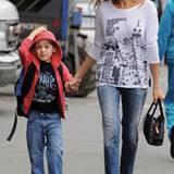 Der allererste Schultag: Sarah Jessica Parker bringt ihren Sohn James Wilke Broderick zur Schule, September 2009.