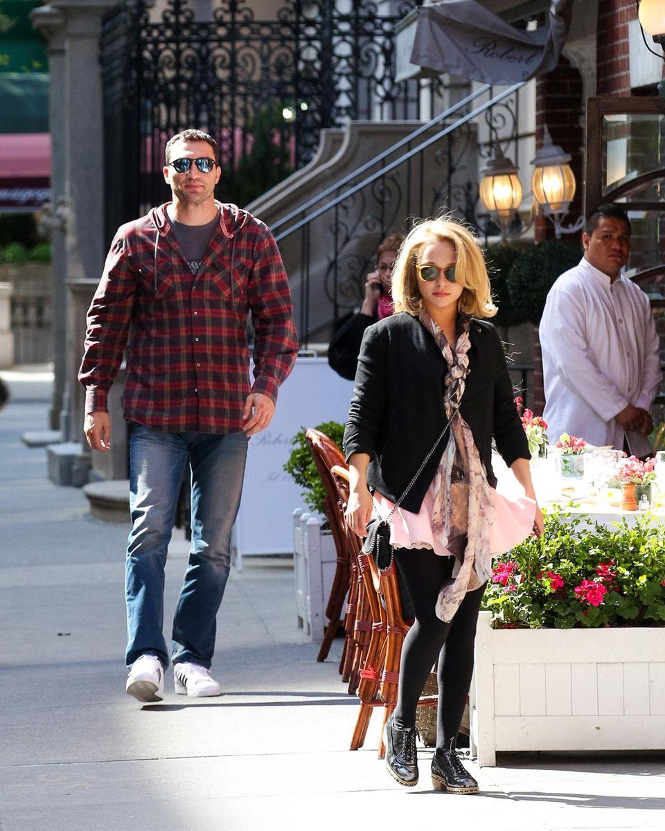 5. Mai 2014: Wladimir Klitschko und Hayden Panettiere verlassen das Amaranth Restaurant in Manhattan.