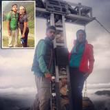 9. August 2013  Noah Becker ist mit seiner Mutter Barbara Becker in den Alpen Wandern.