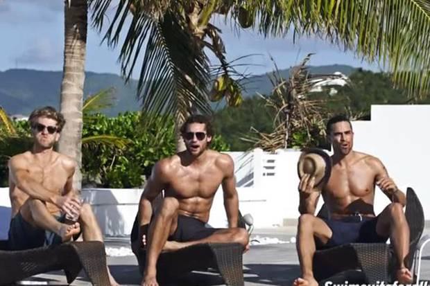 Begeisterung auf ganzer Linie: Die drei Herren aus dem Videoclip sind offensichtlich schwer begeistert von Ashley Grahams sexy Kurven.