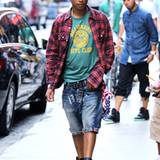 """Passt alles: Pharrell Williams ist für sein eigenes Modelabel """"Billionaire Boys Club"""" wohl das beste Model."""