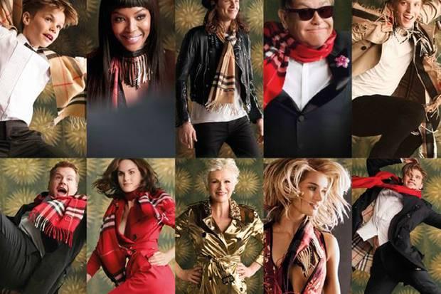 """Die Stars der Burberry-Weihnachtskampagne 2015 springen, tanzen und strahlen vor Freude. Inspiriert wurden Fotoshooting und Film von der Eröffnungsszene des kultigen Tanzfilms """"Billy Elliot""""."""