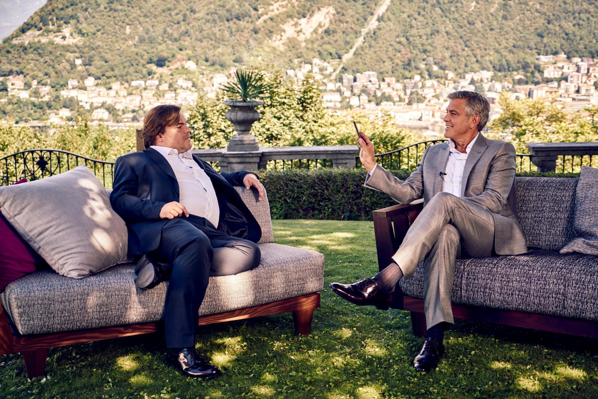 "Jack Black lernt vom ""Meister"" George Clooney."