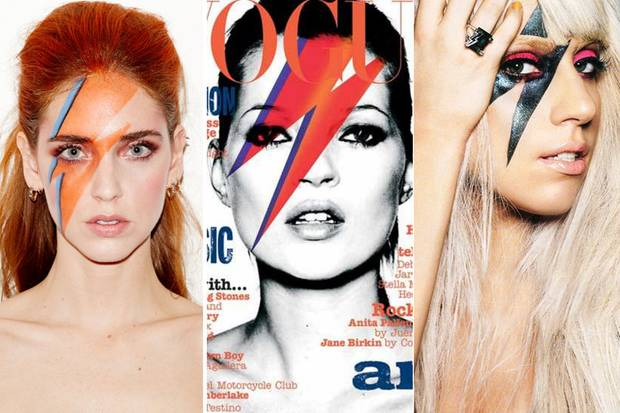 Chiara Ferragni, Kate Moss und Lady Gaga haben allesamt David Bowie mit ihrem Styling Tribut gezollt. Die Liste der Stars, die der exzentrische Musiker inspirierte, ist aber noch weitaus länger.