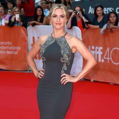 Glamouröses Grau: Kate Winslet in Badgley Mischka