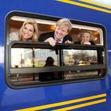 """""""Wir kommen auch noch"""": Die Niederländer mussten zwar mit dem Zug anreisen, genossen aber sichtlich die Zeit auf den Schienen."""