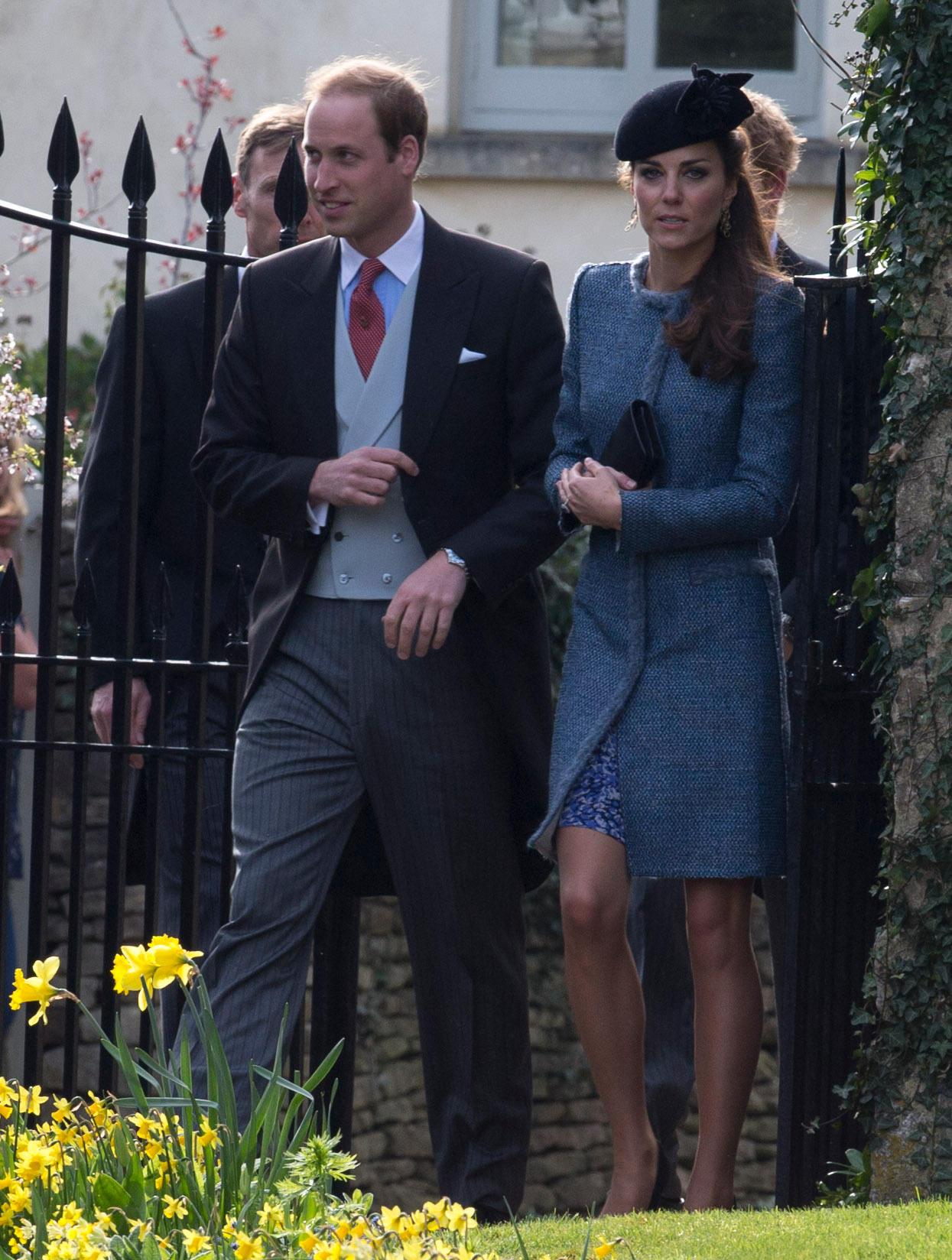 Prinz William und Herzogin Catherine bei der Hochzeit ihrer guten Freunde Lucy Meade und Charlie Budgett im Mai 2014