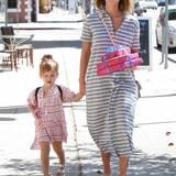 2. Mai 2015  Jessica Alba bringt Tochter Haven zu einem Kindergeburtstag.
