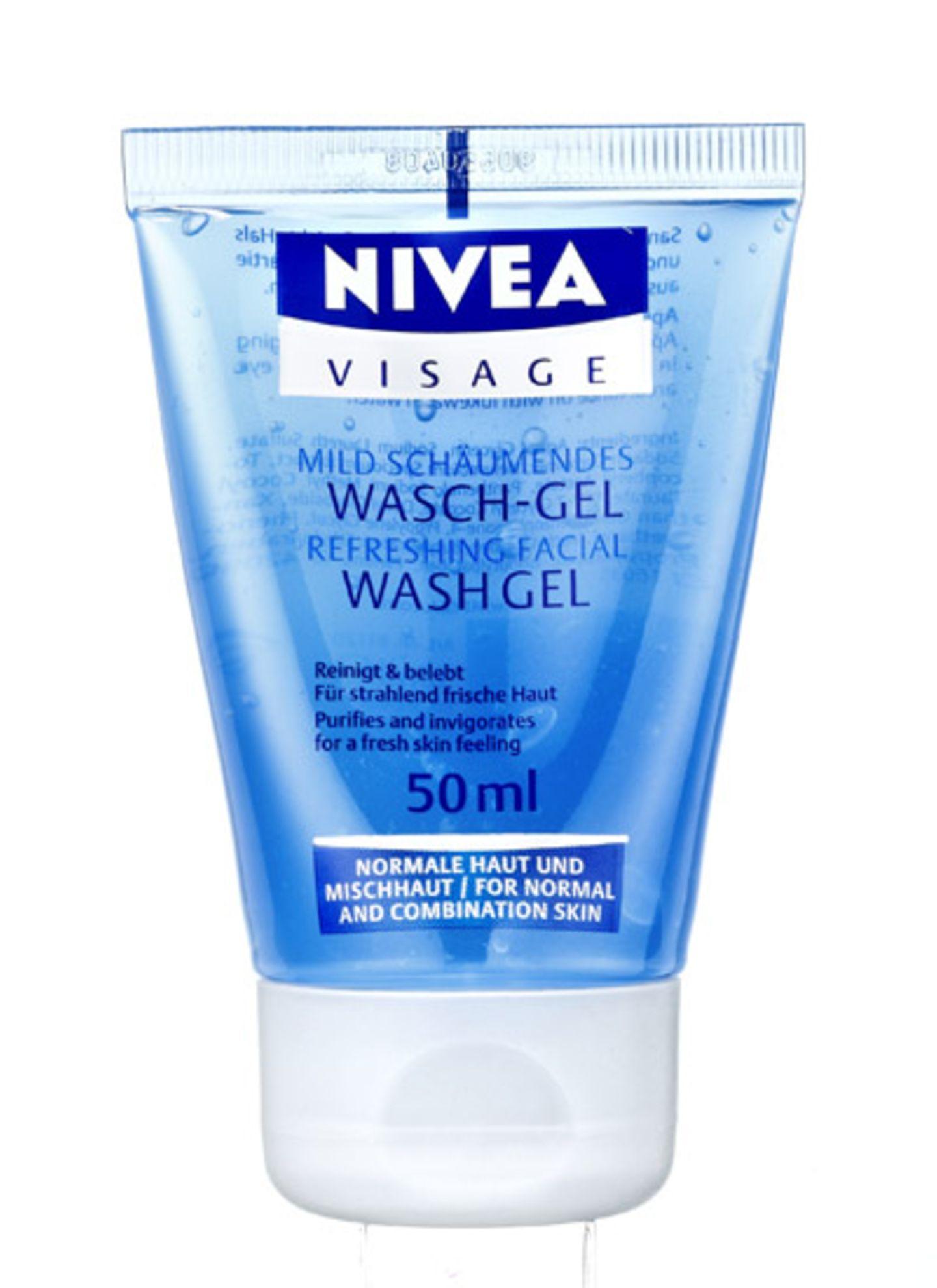 """Erfrischt und reinigt porentief: """"Wasch- Gel"""" von Nivea, 50 ml, ca. 1,30 Euro"""