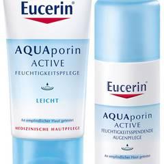 """So wird die Haut durch und durch mit Feuchtigkeit versorgt: """"Aquaporine Active Feuchtigkeitspflege Leicht"""" von Eucerin, 40 ml, c"""