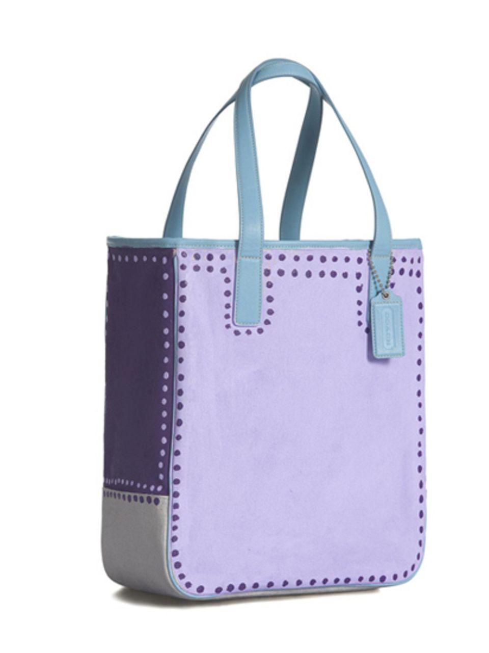 Coach bag: Brooke Shields