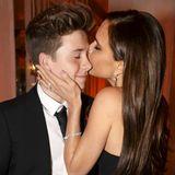 Brooklyn Beckham und Victoria Beckham (Special Contribution to Fashion Award)