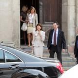 17. Juni 2010: Die Brautmutter Königin Silvia ist auch bei der Probe im Stockholmer Dom mit dabei.