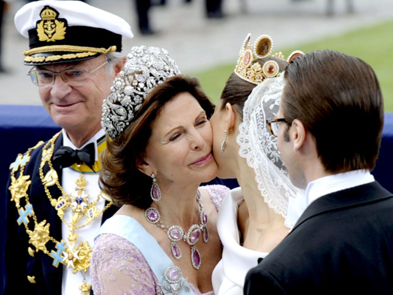 Für Königin Silvia und König Carl Gustav war es ein ebenso großer Freudentag wie für ihre Tochter.
