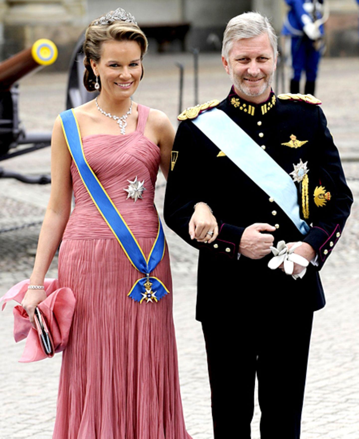 Prinzessin Mathilde und Prinz Philipp von Belgien haben sich auch nach Schweden aufgemacht.