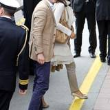"""Prinz Frederik und Prinzessin Mary von Dänemark kommen beim """"Grand Hotel"""" in Stockholm an."""