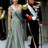 Gutgelaunt machen sich Prinzessin Mary und Kronprinz Frederik auf den Weg zur Kirche.