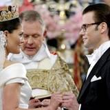 Kronprinzessin Victoria und Daniel beim Ja-Wort.