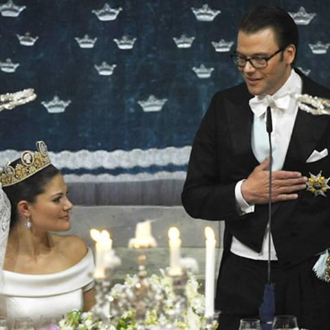 Daniel Westling hält für seine Frau eine rührende Rede.