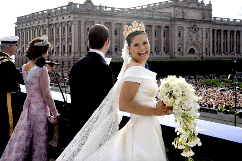 Selten hat man die Prinzessin so strahlend gesehen wie an ihrem Hochzeitstag.