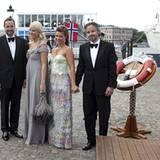 17. Juni 2010: Kronprinz Haakon, Prinzessin Mette-Marit, Prinzessin Märtha-Louise und Ari Behn repräsentieren bei der royalen Ho