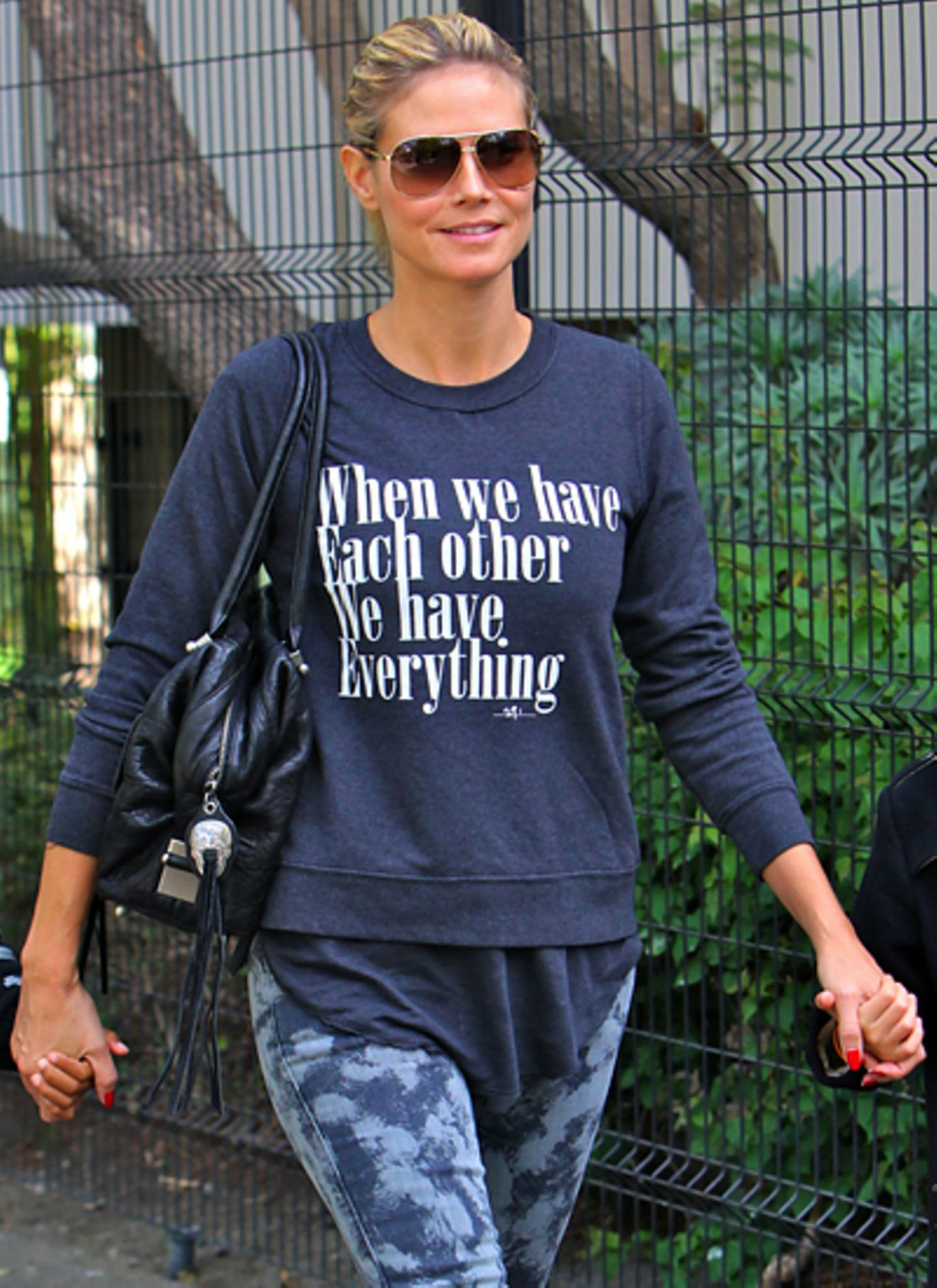 """Beim Familienausflug in Los Angeles lautet Heidi Klums Motto: """"When we have each other we have everything""""."""