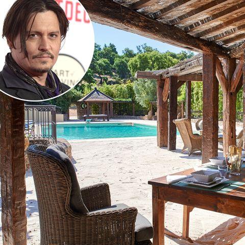 Johnny Depp  Johnny Depp hat 2001 ein ganzes französisches Dorf in der Nähe von St. Tropez gekauft und während andere Stars viel Geld für Architekten und Dekorateure ausgeben, hat sich der Star selbst in der Einrichtung ausgetobt.
