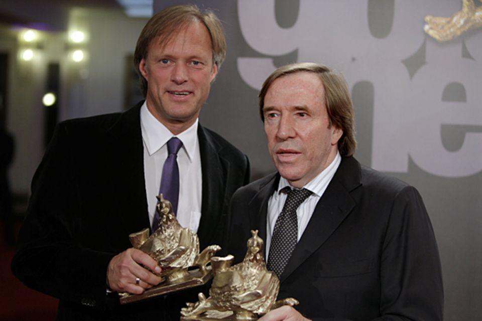 Wieder vereint: Gerhard Delling und Günther Netzer wurden von den Lesern zu den beliebtesten Moderatoren gewählt.