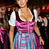 Veronica Ferres feiert im Hippodrom Festzelt.
