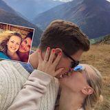 """Ania Niedieck und Chris  """"Alles was zählt""""-Star Ania Niedieck schwebt im siebten Himmel. Sie wird ihren Freund Chris heiraten, doch wie hat der Liebste seiner Ania den Heiratsantrag gemacht? """"Den Heiratsantrag habe ich einen Tag nach meinem 31. Geburtstag in den Bergen bekommen"""", verrät der RTL-Star."""