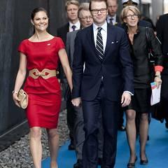 Bei ihrer China-Reise steht selbstverständlich ein Besuch des schwedischen Pavillons auf der Expo in Shanghai auf dem Programm.