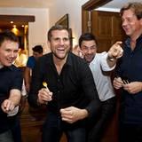 Gala MEN Buddy Weekend: Wolfgang Lange (Biotherm) ließ sich von Randy Dohack (Nintendo), Marco Schreyl und Thomas Heinze nicht a