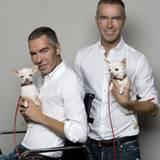 """Designer-Mode für Vierbeiner: Die Gründer des Modelabels """"Dsquared2"""" Dean und Dan Caten haben eine limitierte Hunde-Kollektion v"""
