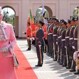 3. Februar 2011: Königin Margrethe von Dänemark ist auf Staatsbesuch im Gudaibiya Palast in Bahrain.