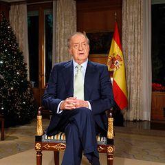 """24. Dezember 2011: König Juan Carlos hält im """"Zarzuela Palace"""" in Madrid die Weihnachtsansprache."""