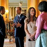 24. Mai 2011: Michelle und Barack Obama legen auf ihrer Europa-Reise einen Stop in London ein. Dort werden sie von Queen Elizabe