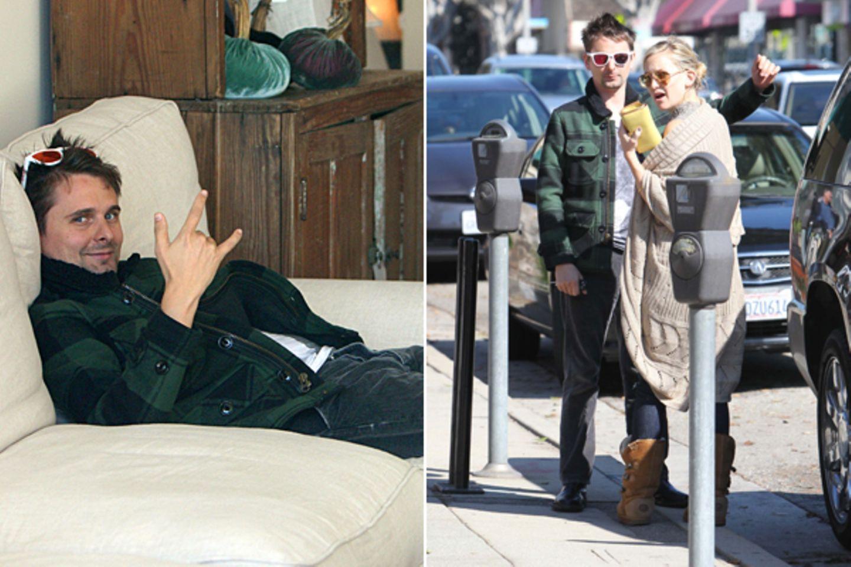 7. November 2011: Matt Bellamy und Kate Hudson schauen sich in einem Möbelgeschäft in Brentwood um. Der Musiker macht es sich au