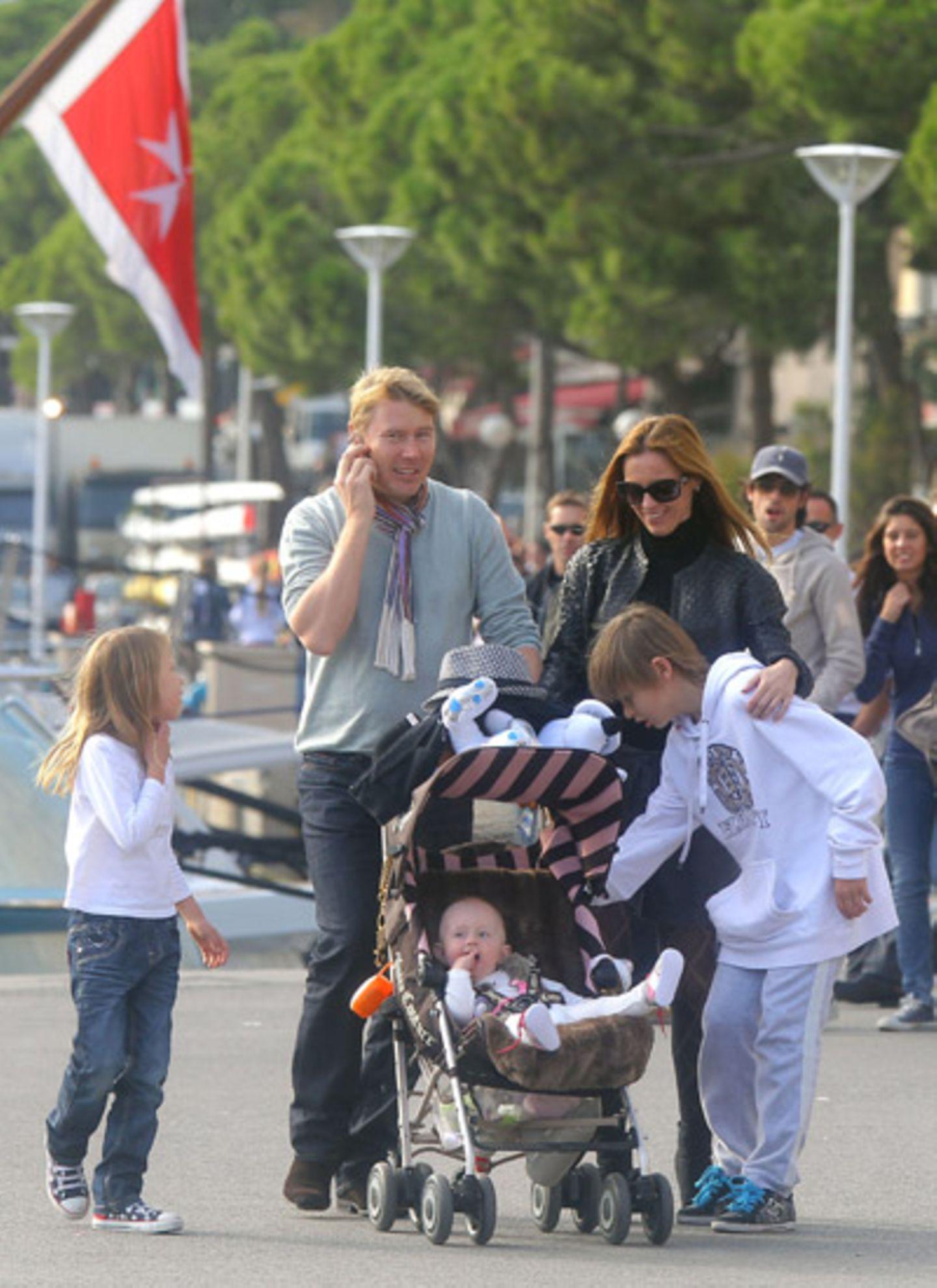 """31. Oktober 2011: Ex-""""Formel 1""""-Fahrer Mika Häkkinen ist mit seiner Familie in Monaco unterwegs."""