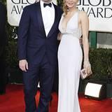 """""""Mad Men""""-Star Jon Hamm wird von seiner Frau Jennifer ins Beverly-Hilton-Hotel begleitet."""