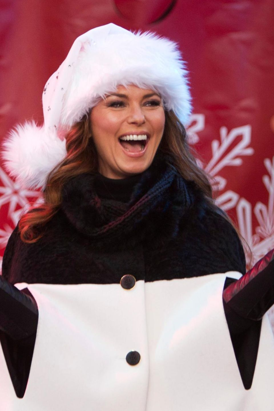 """Shania Twain singt beim """"Las Vegas Great Santa Run"""" in Las Vegas."""