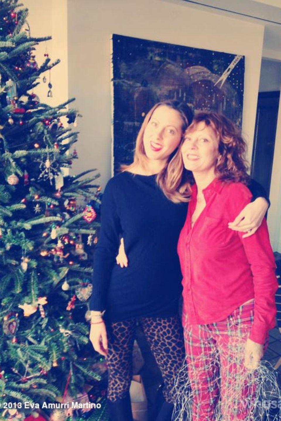Susan Sarandon und Tochter Eva Amurri Martino genießen die Weihnachtszeit gemeinsam.