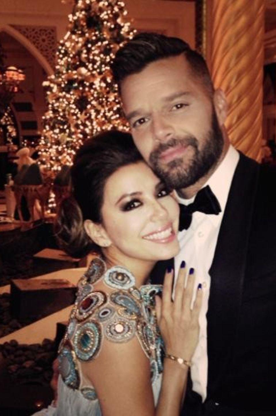 "Eva Longoria und Ricky Martin besuchen die ""Global Gift Humanitarian Award Gala"" in Dubai."